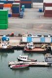łodzi ładunku zbiorników zafrachtowań port Zdjęcie Royalty Free