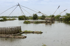 łodzi Cambodia połowu rzeka Obraz Stock