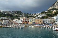 łodzi capri połowu wyspy brzeg Obraz Royalty Free