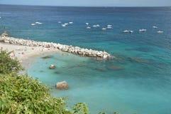 łodzi capri połowu wyspy brzeg Zdjęcie Stock