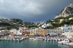 łodzi capri połowu wyspy brzeg Fotografia Royalty Free