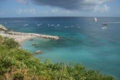łodzi capri połowu wyspy brzeg Obraz Stock
