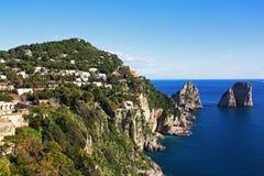 łodzi capri połowu wyspy brzeg Zdjęcie Royalty Free