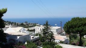 łodzi capri połowu wyspy brzeg zbiory wideo