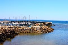 łodzi cascais nabrzeże Zdjęcia Royalty Free