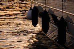 łodzi fenders fotografia stock