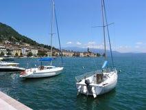 łodzi garda jezioro zdjęcia royalty free