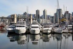 łodzi granville wyspa Vancouver zdjęcia royalty free