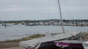 Łodzi i jachtów Marina w lecie przed burzą 5 zdjęcie royalty free