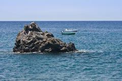 łodzi kanarka wybrzeża wysp losu angeles palma Zdjęcia Royalty Free