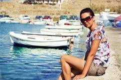 łodzi nata Fotografia Stock