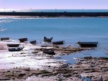 łodzi połowów na plaży Fotografia Stock