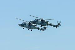 Łodzi podwodnej i wysyłki helikopter - AgustaWestland AW159 żbik Zdjęcia Stock