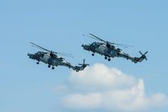 Łodzi podwodnej i wysyłki helikopter - AgustaWestland AW159 żbik Obrazy Royalty Free