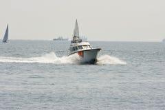 łodzi policja przyśpiesza fotografia stock
