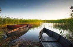 Łodzi rybackiej końcówki woda Zdjęcia Stock