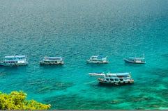 Łodzi rybackiej kurtyzacja przy Nang Juan wyspą Zdjęcia Royalty Free