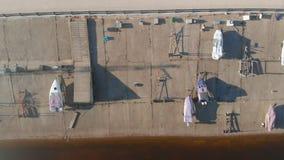 Łodzi stacja lub cumowanie dla łodzi, powietrzna ekranizacja od trutnia zbiory wideo