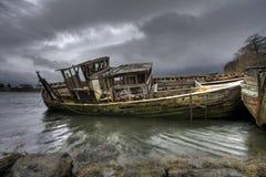 łodzi target2066_1_ stary Zdjęcia Stock