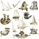 łodzie ilustracji