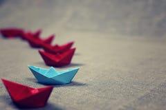 łodzie barwiący papier Obrazy Royalty Free