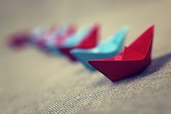 łodzie barwiący papier Obraz Royalty Free