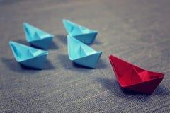 łodzie barwiący papier Zdjęcie Stock