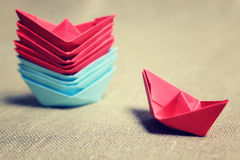 łodzie barwiący papier Fotografia Royalty Free