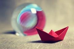 łodzie barwiący papier Zdjęcia Royalty Free
