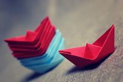 łodzie barwiący papier Zdjęcia Stock