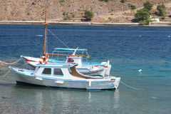 łodzie biały Obrazy Stock