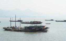 łodzie chińskie fotografia royalty free