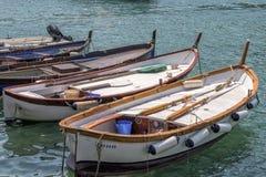 Łodzie, Cinque Terre, Włochy Zdjęcia Stock