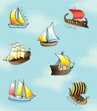 łodzie deseniują bezszwowego Obrazy Stock