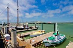 Łodzie dokować przy rybaka nabrzeżem w San Fransisco Fotografia Stock