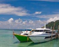 łodzie dwa Zdjęcie Royalty Free