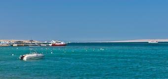 Łodzie i jachty w Czerwonym morzu obraz royalty free