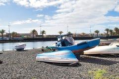 Łodzie na Marina de Lanzarote zdjęcie stock