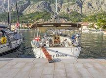 Łodzie na molu w miejscowości wypoczynkowej Makarska, Chorwacja Zdjęcie Stock