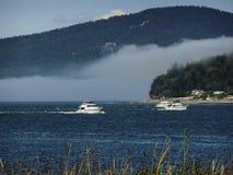 Łodzie na Puget Sound Obraz Royalty Free