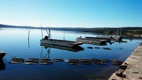 Łodzie na Richmond rzece @ Broadwater Australia fotografia royalty free