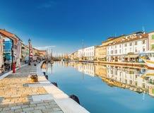 łodzie na Włoskim kanału porcie Obraz Stock