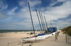 łodzie plażowych obraz stock
