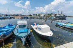Łodzie przy marina w Sozopol w Bułgaria obraz royalty free