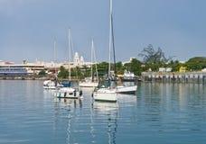Łodzie przy San Juan zatoką, Puerto Rico Fotografia Stock