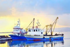 Łodzie rybackie obrazy stock