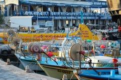 Łodzie rybackie i jachty, Ayia Napa, Cypr Obrazy Royalty Free