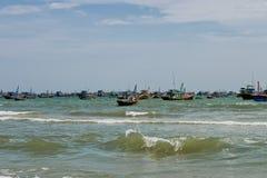 Łodzie rybackie, Mui Ne, Wietnam zdjęcia stock