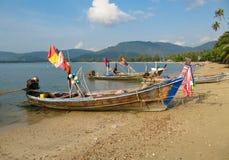 Łodzie w Samui, Tajlandia Fotografia Royalty Free