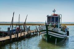 Łodzie rybackie w Carrasqueira połowu antycznym porcie Obrazy Royalty Free